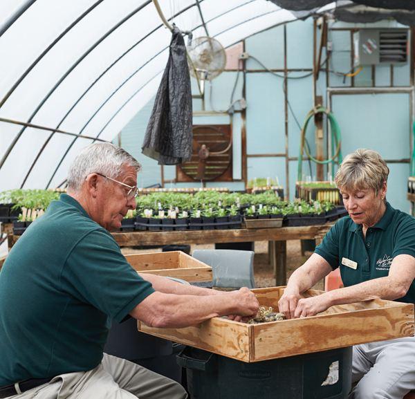 Volunteers Bob and Sue Bohn have been volunteering with Hamilton County Parks since 1988.