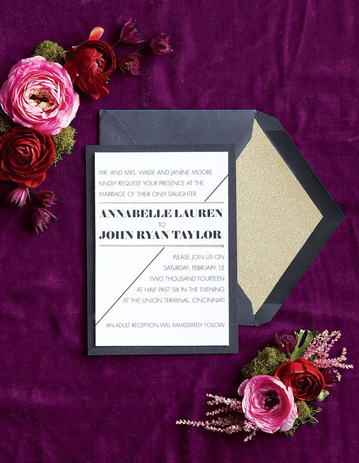 Invitation by Five Dot Design. Flowers by Marti's Floral Design.