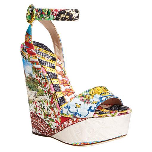 Dolce & Gabbana printed wedge sandal, $945, nordstrom.com