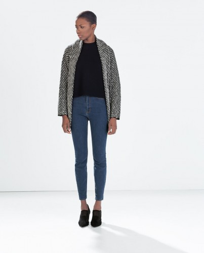 Cozy and chic can coexist. Three-color knit scarf cardigan, $19.99