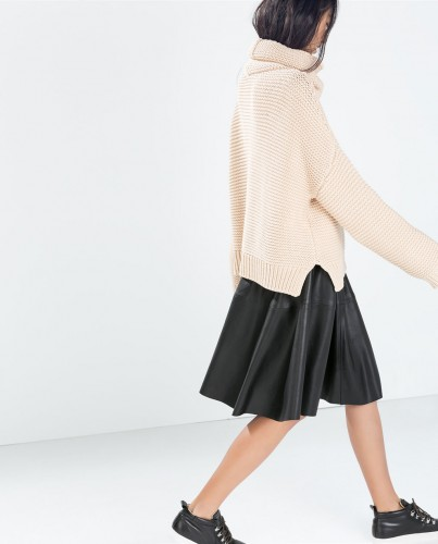 A (faux) leather flared skirt is ladylike AND badass Faux leather flared skirt, $29.99