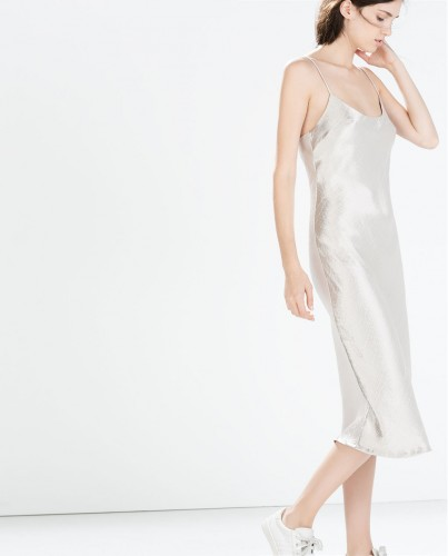 Already mentally channeling '90s Kate Moss in this silky slip dress, perfect for layering Studio slip dress, $39.99