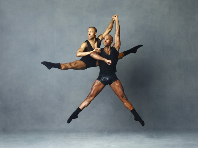 Alvin Ailey American Dance Theater's Yannick Lebrun and Glenn Allen Sims. Photo by Andrew Eccles_02