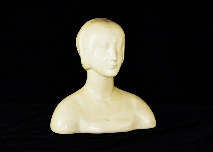 Rookwood Pottery Bust of A Woman in Ivory Matte Glaze