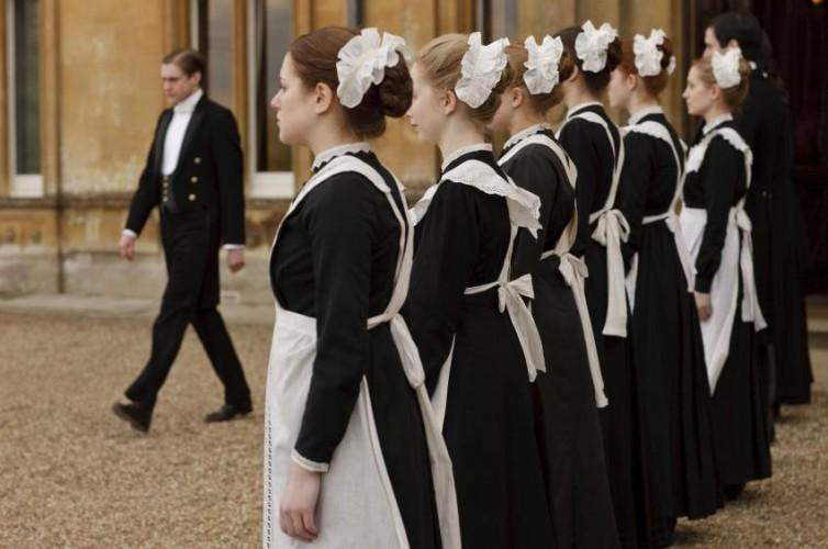 Downton Abbey (PBS) Season 1,2010. Shown: Maids in line.