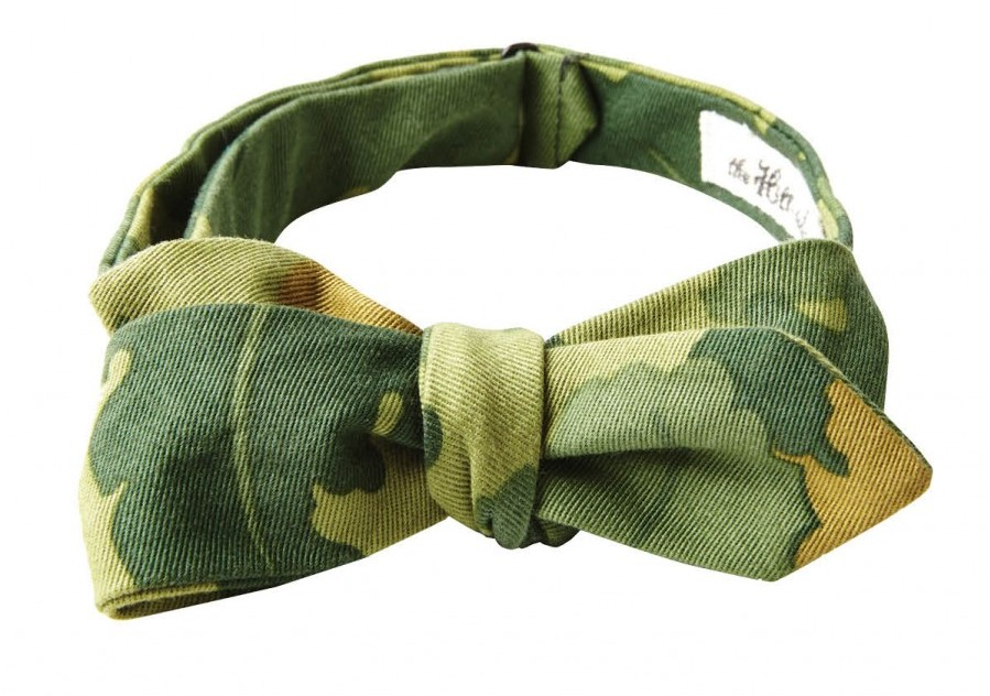 The Hill-Side camouflage bow tie