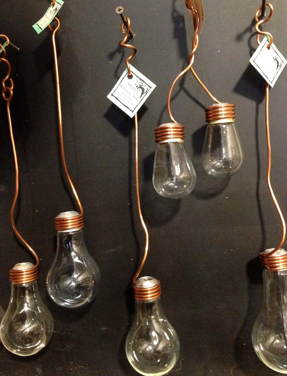 Recycled lightbulb vases, $22-$35, Park + Vine
