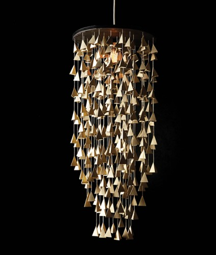 One-of-a-kind Paper Acorn chandelier, starting at $200, paperacorn.net