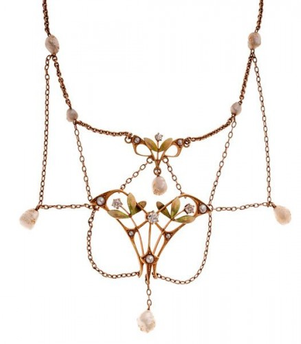 Chandelier earrings are everywhere, but have you ever heard of a chandelier necklace?