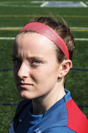 Rose Lavelle on the MND soccer pitch