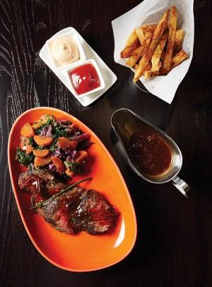 Teres major steak entrée with frites