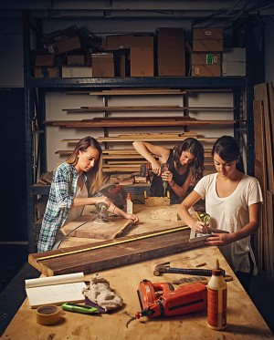 When a side project making and selling wood objects began to grow legs, these sisters ran with it.