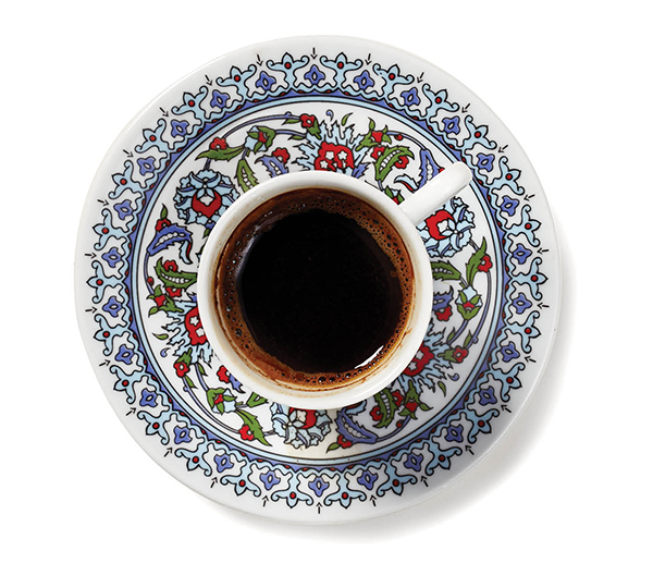 A cup of strong Turkish coffee