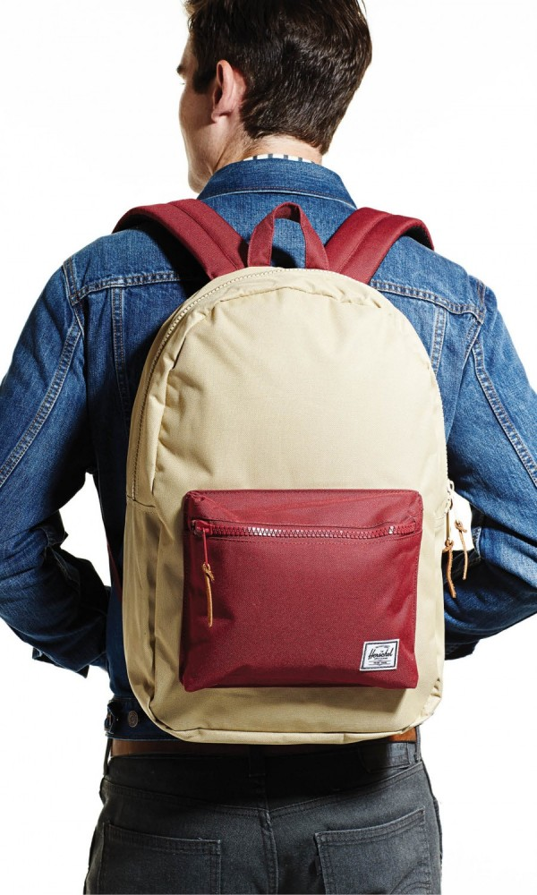 WHO SAYS YOU CAN'T GO BACK? The tailored shape and timeless color palette (plus laptop sleeve) of Herschel's Settlement backpack mean style and function. $60, Unheadrof, unheardofbrand.com