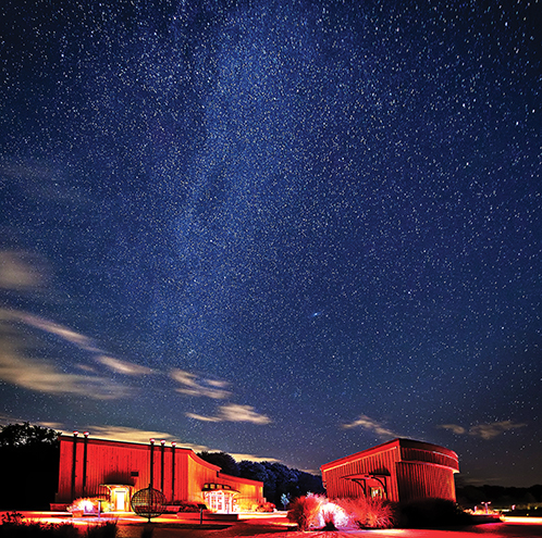 The night sky at Observatory Park.