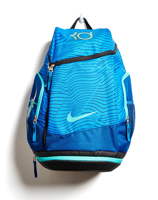 FIRST STRING Hey athletes: This has multiple compartments, a cooler pocket, and shock-absorbing straps. Nike KD Max Air, $85, Unheardof, unheardofbrand.com