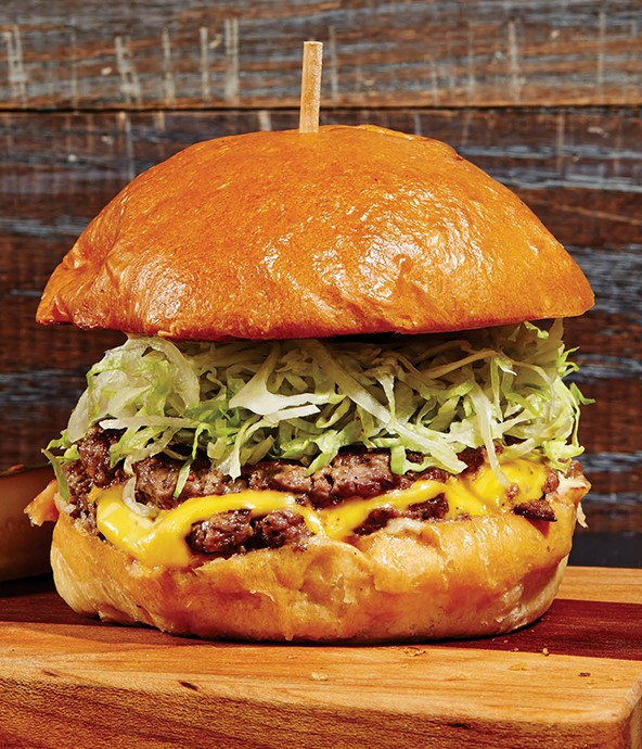 The Krueger's Burger from Krueger's Tavern in OTR