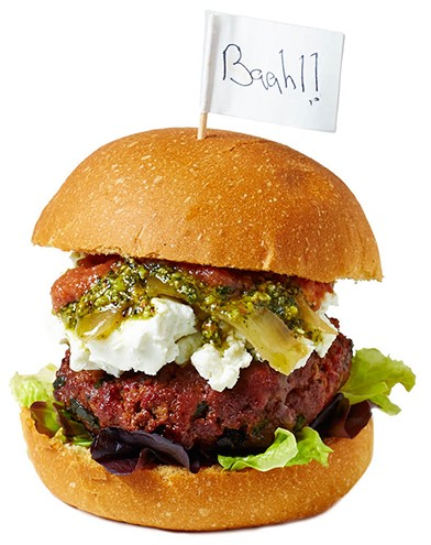 Lamb Sliders: A hearty portion of Moroccan spiced lamb is slathered with date ketchup and pistachio-mint pesto, then finished with lettuce, caramelized onions, and goat cheese. $13 for 2. Abigail Street, abigailstreet..com