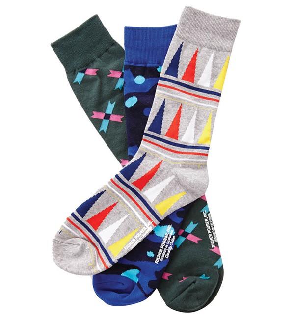 Richer Poorer socks, $12 each, Flow, gentlemanflow.com