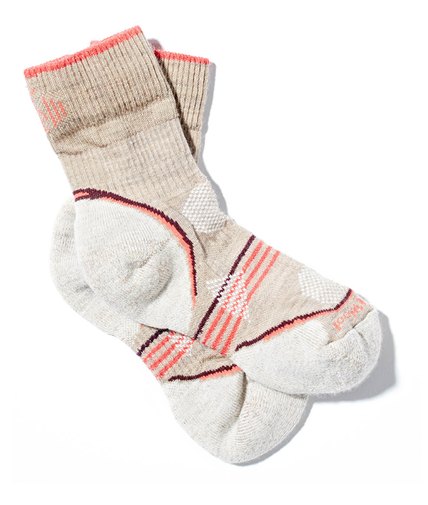 FEET FIRST A moisture-wicking Merino wool blend and strategically placed cushioning make these socks feel like a loving hug for tired feet. SmartWool PhD Outdoor Light crew socks, $20.95, Roads Rivers and Trails, roadsriversandtrails.com