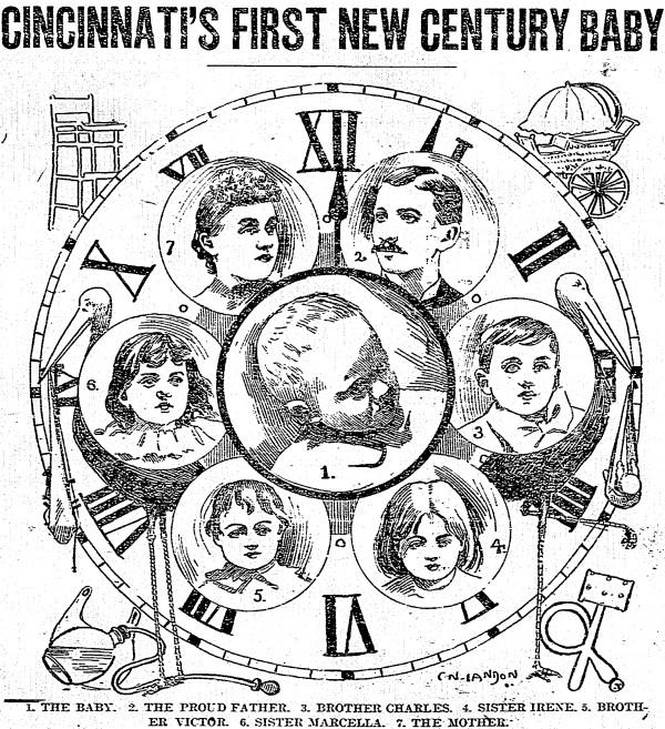 Beck Family Portraits, Cincinnati Post, 7 January 1901