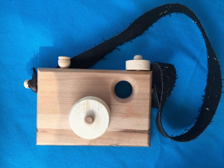 Wooden camera, $15