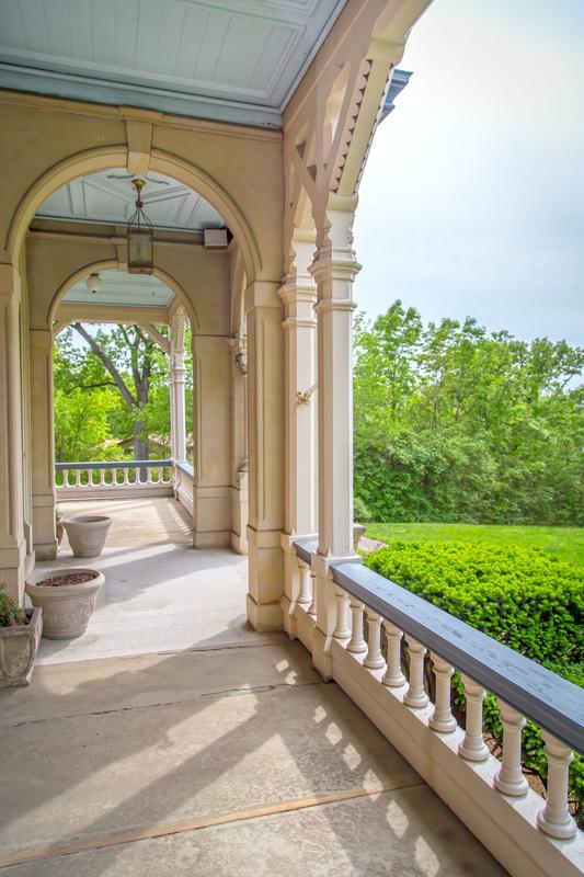 The expansive porch