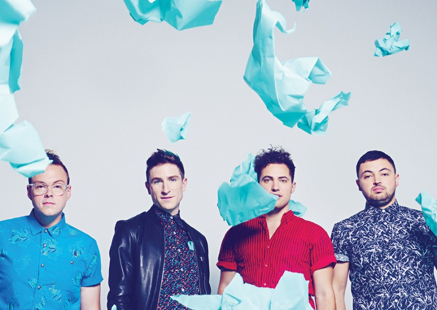 From left: Sean Waugaman, Nicholas Petricca, Kevin Ray, and Eli Maiman of Walk The Moon
