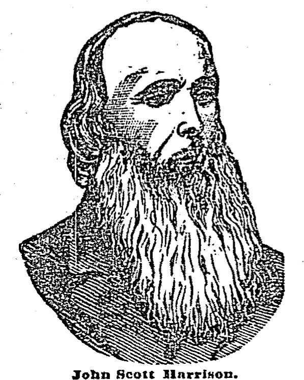 Portrait of John Scott Harrison from The Cincinnati Enquirer, June 1878