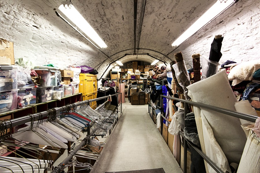 The ballet's costume storage space, housed in a former brewery barrel cellar