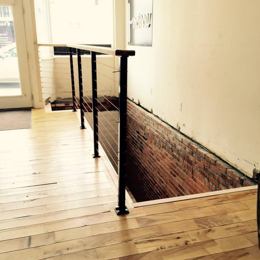 A brand new set of stairs leads downstairs into The Cellar.