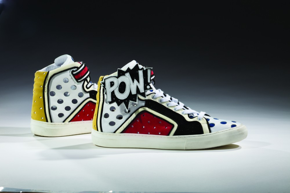 Pierre Hardy, Poworama, 2011. Collection of the Bata Shoe Museum, gift of Pierre Hardy. Photo: Ron Wood, courtesy American Federation of Arts/Bata Shoe Museum.