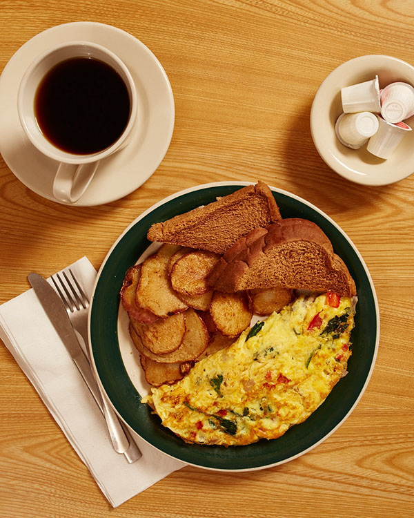 Omelet with Parkside potatoes