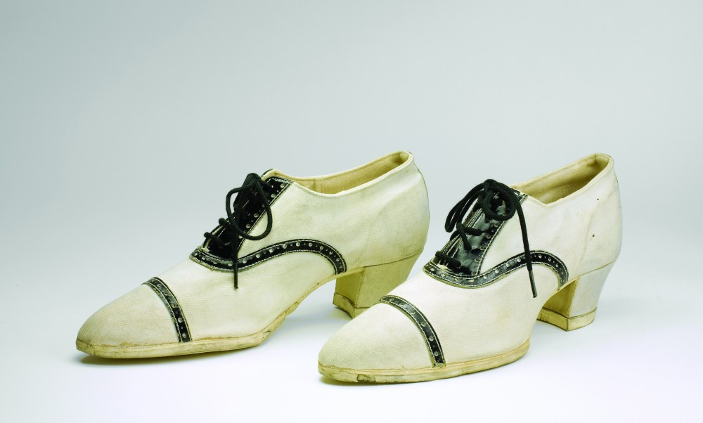 Dominion Rubber Company, Fleet Foot, about 1925. Collection of the Bata Shoe Museum. Photo: Hal Roth, courtesy American Federation of Arts/Bata Shoe Museum