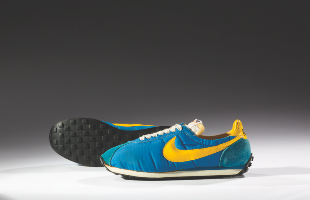 Nike, Waffle Trainer, 1974. Northampton Museums and Art Gallery. Photo: Ron Wood, courtesy American Federation of Arts/ Bata Shoe Museum.