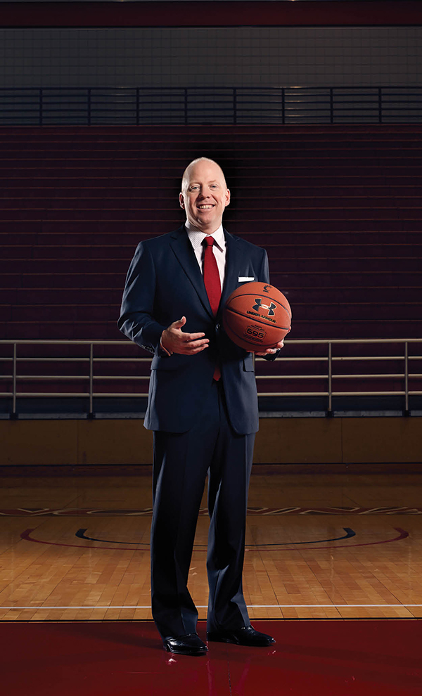 MICK IS BACK: Coach Cronin, photographed on the floor of Fifth Third Arena, October 21, 2015.