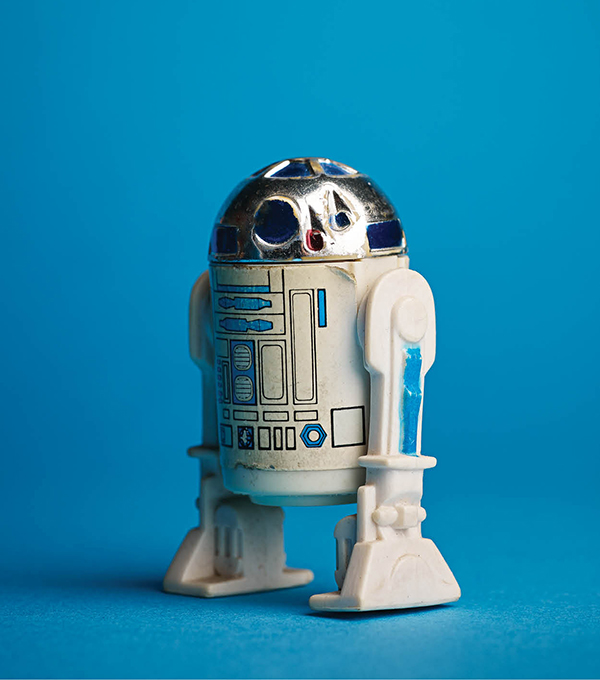 R2-D2, from Kenner's original series of 12 action figures released in 1978. From Dan Flarida's collection.