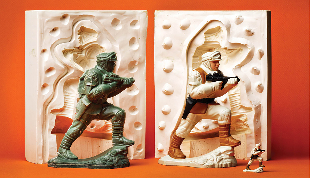Prototype molding samples of a Rebel Soldier from Josh Blake's Micro Collection