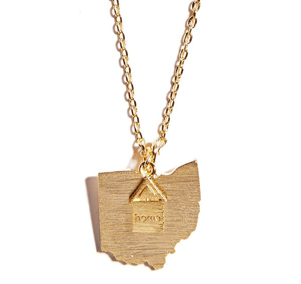 Cool and Interesting Ohio necklace, $28, Nest, nestgifts.com