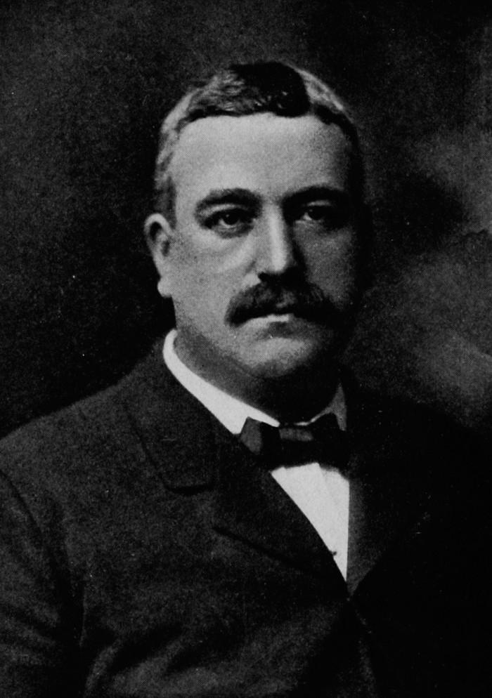 "Portrait of George B. ""Boss"" Cox from Bossism In Cincinnati, by Henry C. Wright 1905, published in Cincinnati"