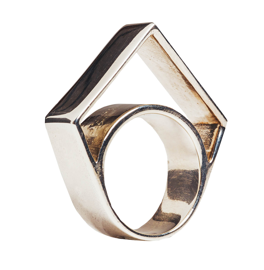WXYZ sterling silver hallow point ring