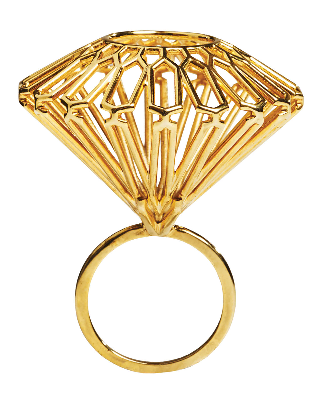 MYBF 3-D printed brass ring