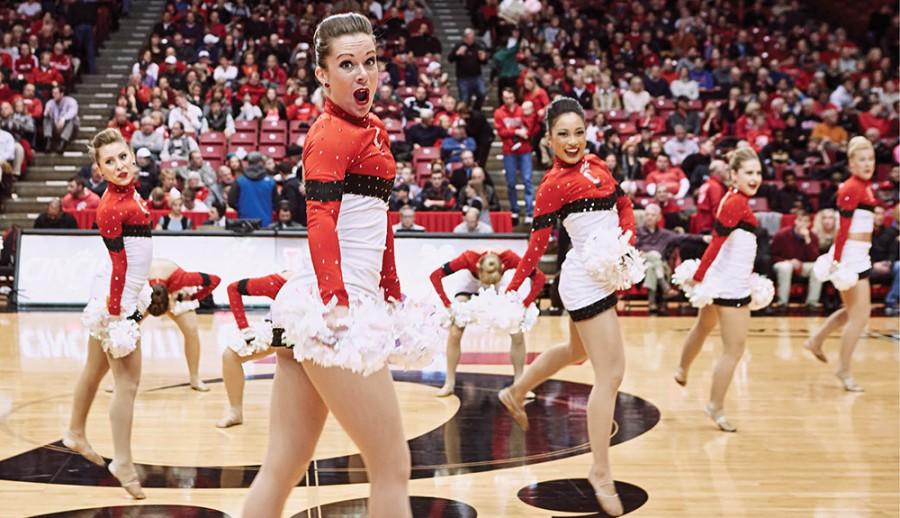 UCDT performing its pom routine.
