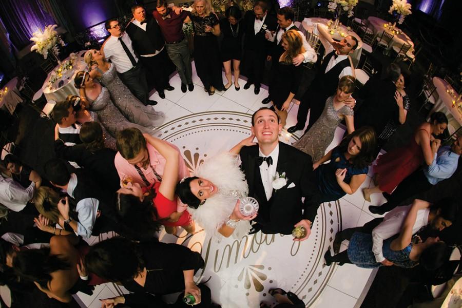 Custom-made dance floor decal