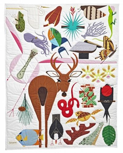 Charley Harper for Land of Nod Florida Keys Quilt, $149