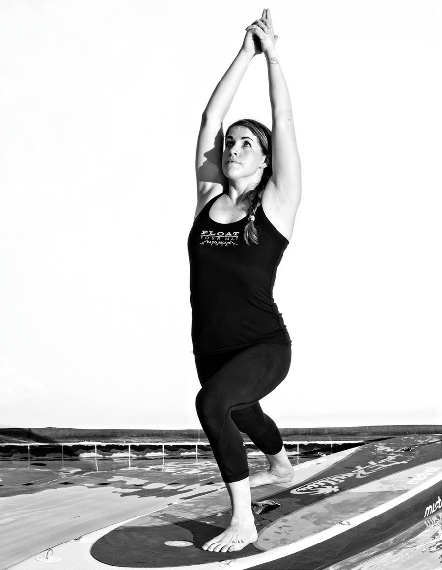 Clare Karp, founder of Float Your Mat Yoga