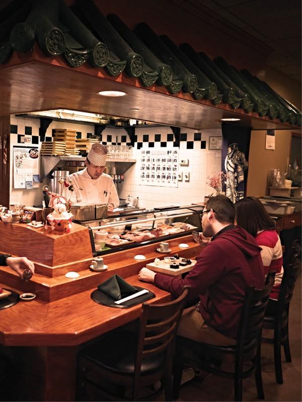 Sushi bar at Ando