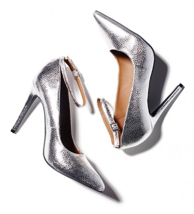 Save with these silver pumps