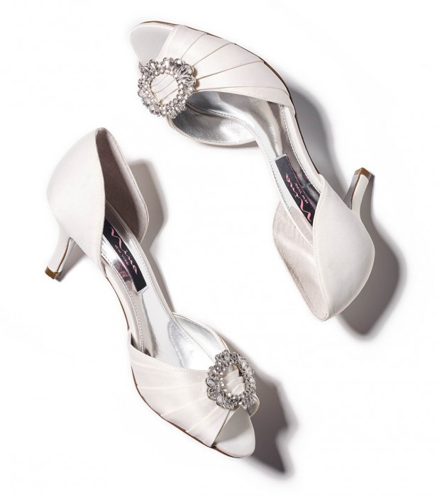 Save on a lower heeled peep-toe