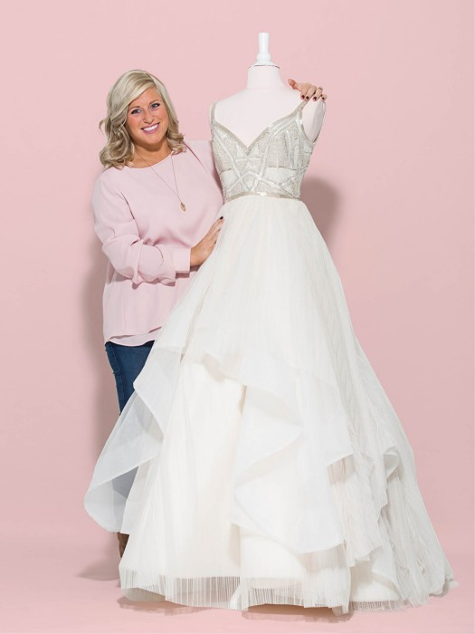 Amanda Carcaro with a Haley Paige Lennon gown